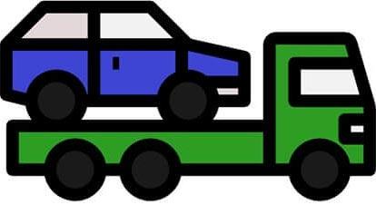 towing car